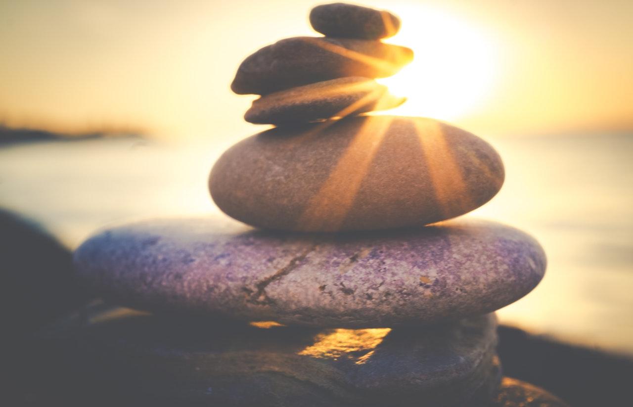 Steine der Balance